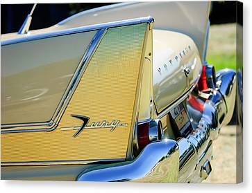 1958 Plymouth Fury Golden Commando Taillight Emblem -3447c Canvas Print by Jill Reger