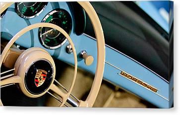 1958 Porsche 356 A Speedster Steering Wheel Emblem Canvas Print by Jill Reger