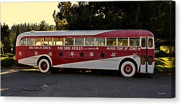1958 Tour Bus Canvas Print by George Bostian