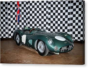 1959 Aston Martin Dbr1 Canvas Print by Boris Mordukhayev