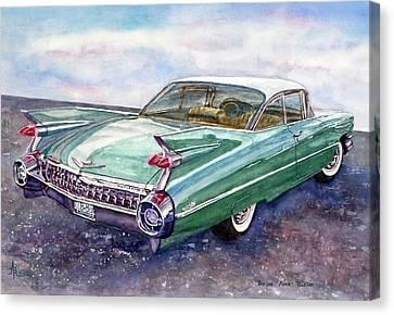 1959 Cadillac Cruising Canvas Print by Anna Ruzsan