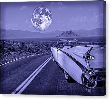 1959 Cadillac Eldorado Blue Moon Canvas Print