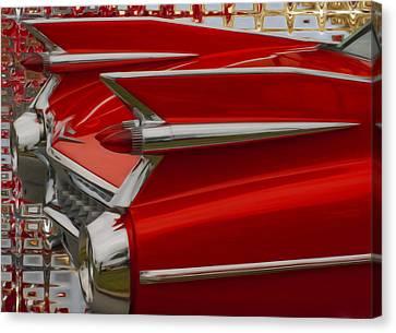 1959 Cadillac Canvas Print by Jack Zulli