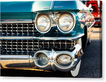 1959 Cadillac Sedan Deville Series 62 Grill Canvas Print by Jon Woodhams