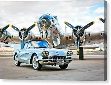 1959 Chevrolet Corvette Canvas Print by Jill Reger