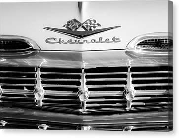 1959 Chevrolet Impala Grille Emblem Canvas Print by Jill Reger