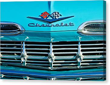 1959 Chevrolet Impala Grille Canvas Print by Jill Reger