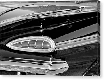 1959 Chevrolet Impala Tail Light Canvas Print by Jill Reger