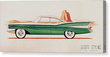 1959 Desoto  Classic Car Concept Design Concept Rendering Sketch Canvas Print by John Samsen