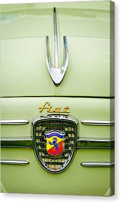 1959 Fiat 600 Derivazione 750 Abarth Hood Ornament Canvas Print by Jill Reger