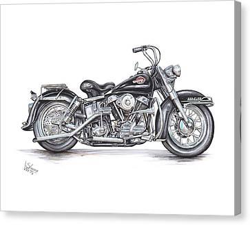 Bike Canvas Print - 1959 Harley Davidson Panhead by Shannon Watts