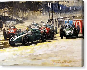 1959 Monaco Gp  #24 Cooper Climax T51 Jack Brabham Winner  Canvas Print by Yuriy Shevchuk