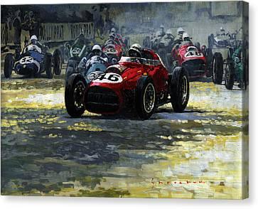 1959 Monaco Gp  #46 Ferrari D246 Jean Behra Canvas Print by Yuriy Shevchuk