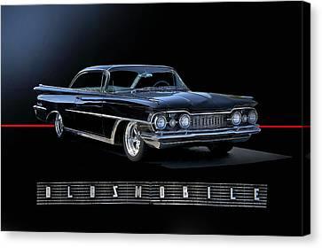 1959 Oldsmobile Custom I Canvas Print by Dave Koontz