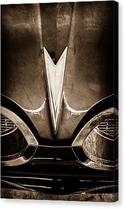 1959 Pontiac Bonneville Convertible Emblem Canvas Print
