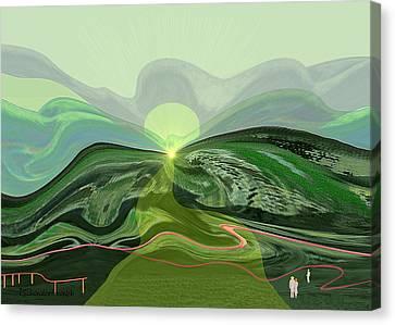 196 - Mountain-morning   Canvas Print