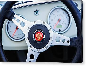 1960 Austin-healey -bugeye  Sprite Mk I Steering Wheel Emblem Canvas Print