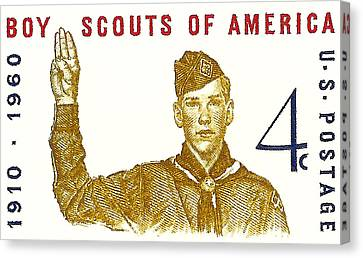 1960 Boy Scouts Of America Postage Stamp Canvas Print by David Patterson