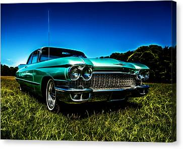 1960 Cadillac Coupe De Ville Canvas Print by motography aka Phil Clark