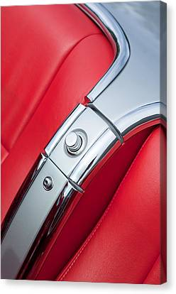 1960 Chevrolet Corvette Compartment Canvas Print by Jill Reger