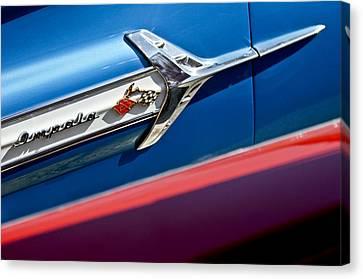 1960 Chevrolet Impala Emblem 7 Canvas Print by Jill Reger