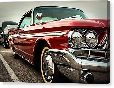 1960 Desoto Fireflite Coupe - Three Quarters Front Canvas Print by Jon Woodhams