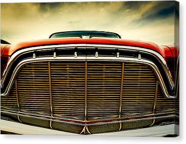 1960 Desoto Fireflite Coupe Grill Canvas Print by Jon Woodhams