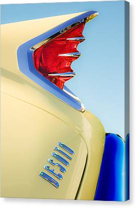 Old Car Door Canvas Print - 1960 Desoto Fireflite Two-door Hardtop Taillight Emblem by Jill Reger