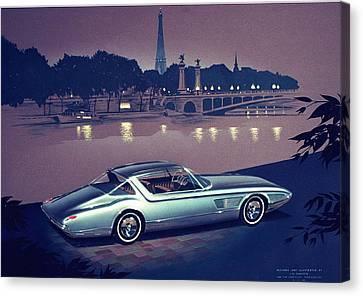 1960 Desoto  Vintage Styling Design Concept Painting Paris Canvas Print by John Samsen