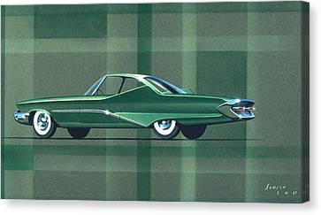 Virgil Canvas Print - 1960 Desoto  Vintage Styling Design Concept Rendering Sketch by John Samsen