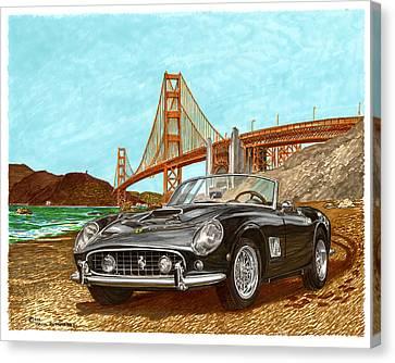 1960 Ferrari 250 California G T Canvas Print by Jack Pumphrey