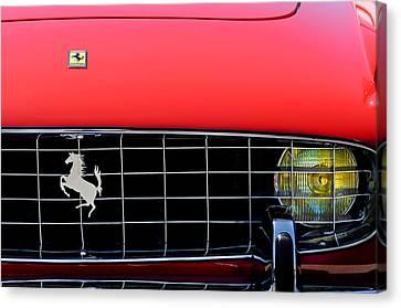 1960 Ferrari 250 Gt Cabriolet Pininfarina Series II Grille Emblem Canvas Print