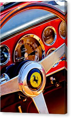 1960 Canvas Print - 1960 Ferrari 250 Gt Cabriolet Pininfarina Series II Steering Wheel Emblem -1319c by Jill Reger