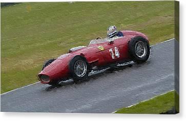 1960 Ferrari Dino Racing Car Canvas Print by John Colley