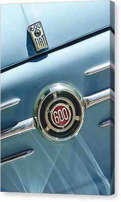 1960 Fiat 600 Jolly Emblem Canvas Print by Jill Reger
