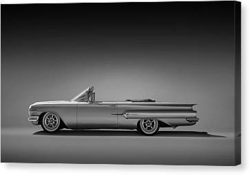 White Chevy Canvas Print - 1960 Impala Convertible Coupe by Douglas Pittman