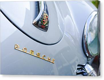 1960 Porsche 356 B 1600 Super Roadster Hood Emblem Canvas Print by Jill Reger
