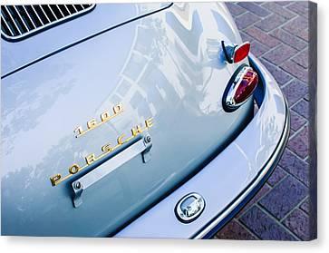 1960 Porsche 356 B 1600 Super Roadster Rear Emblem - Taillight Canvas Print by Jill Reger