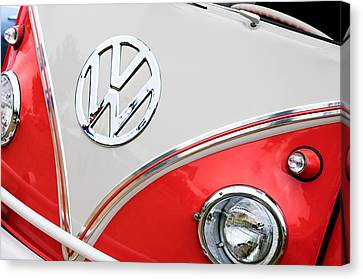 1960 Volkswagen Vw 23 Window Microbus Emblem Canvas Print
