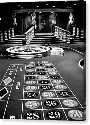 Interior Still Life Canvas Print - 1960s Casino Viewed From End by Vintage Images