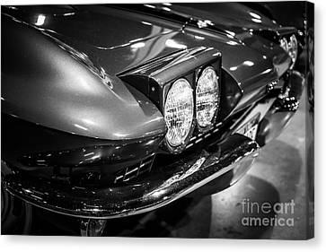 1960's Corvette In Black And White Canvas Print