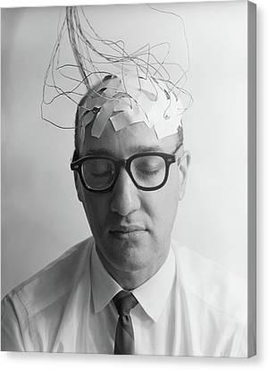 Communication Problems Canvas Print - 1960s Portrait Of Man Character by Vintage Images