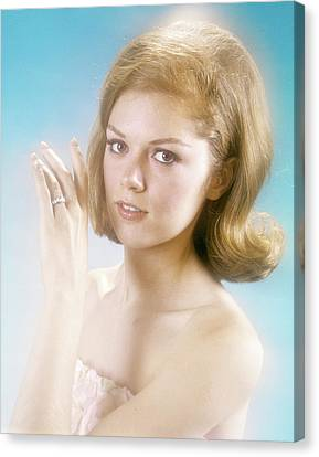 Betrothed Canvas Print - 1960s Pretty Young Woman Looking by Vintage Images