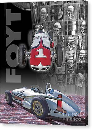 1961-62 Bowes Seal Fast Spl.  Canvas Print by Ed Dooley