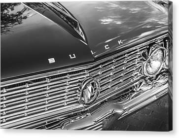 155 Canvas Print - 1961 Buick Skylark Bw by Rich Franco