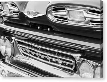 1961 Chevrolet Front End Emblem Canvas Print by Jill Reger