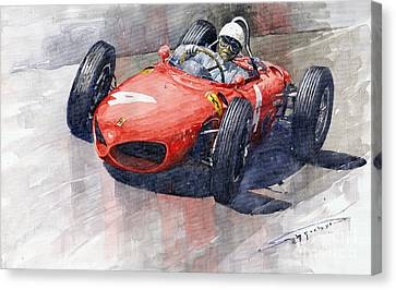 1961 Germany Gp Ferrari 156 Phil Hill Canvas Print by Yuriy Shevchuk
