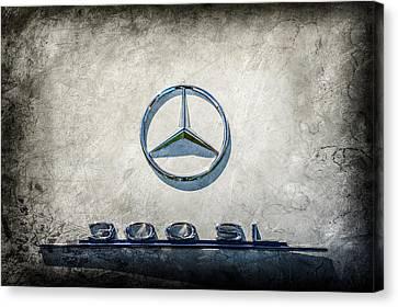 1961 Mercedes Benz 300sl Roadster Emblem -0585ac Canvas Print