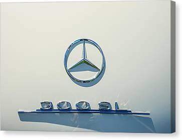 1961 Mercedes Benz 300sl Roadster Emblem Canvas Print