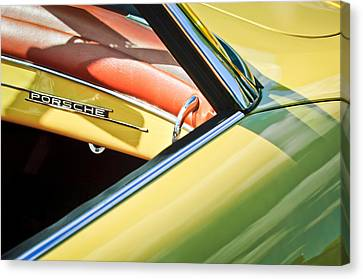 1961 Porsche 356b 1600 Super Dashboard Emblem -1712c Canvas Print by Jill Reger